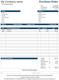 Purchase Order Forms Sample Purchase Order Purchase Order Template For Excel