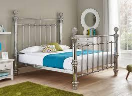 Quinn Chrome Plated Metal Bed Frame - Super King