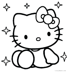 Cat Coloring Sheets Printable Free Hello Kitty Coloring Pages Free