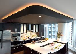 Cool 33 Kitchen With Drop Ceiling On Drop Ceiling With Recessed Pot Lights  And Framed By