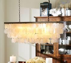 capiz rectangular chandelier