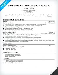 Ideas Collection Loan Processor Resume Sample Document For Research