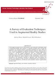 Augmented Reality Vs Virtual Reality Venn Diagram Pdf A Survey Of Evaluation Techniques Used In Augmented Reality Studies