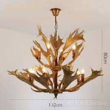 moose antler chandelier 8 4 2 tiers 12 cast cascade ceiling lights candelabra rustic style