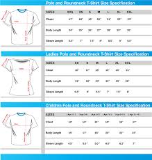 Round Neck T Shirt Size Chart Three Parallel Union Embroidery Printing Services