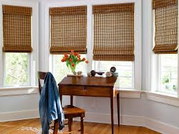 ... Brown Square Contemporary Bamboo Woven Shades For Windows Stained  Ideas: Stunning woven shades