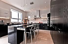 modern black kitchens. Delighful Modern Black Minimal Kitchen Design On Modern Kitchens T
