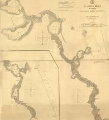 Florida Memory St Johns River Nautical Chart Lake Monroe