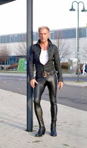 in skin tight skinny leather pants shiny leather jeans