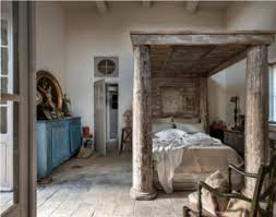 Beautiful French Farm House Bedroom. I Love The Stone Floors And The  Architectural Salvage Bed