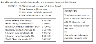 Telephone Number For Address Practicing German Numbers The German Professor