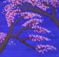 blossom 12 x12 acrylic painting