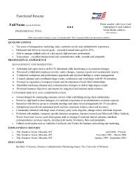 Functional Resume This Is A Common Layout For A Functional Resume