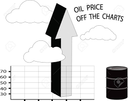 Off The Charts The Price Of Oil Is Off The Charts With Arrow Up And Oil Barrel