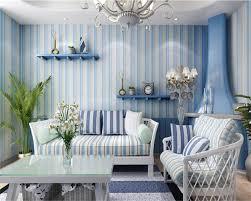 Beibehang 3d Behang Blauw Roze Strepen Kleding Winkel 3d Woonkamer