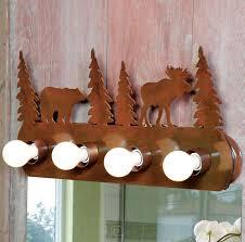 moose amp bear vanity light fixture light bathroom lighting rustic bathroom lighting fixtures rustic lighting