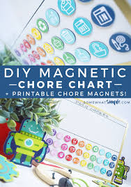 Magnetic Chore Chart Buttons Magnetic Chore Chart For Kids Printables Somewhat Simple