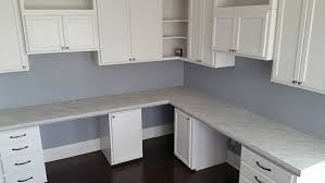 concrete countertops painted with glow in the dark to look like marble