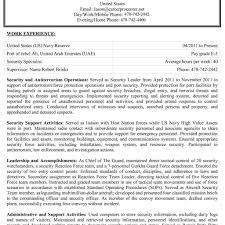 Government Resume Federal Resume Government Resume Template
