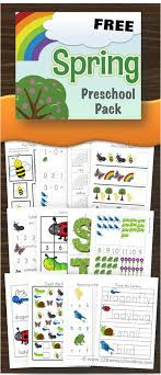 FREE Spring Preschool Worksheets