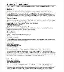Resume For Experienced Php Developer Php 1 Year Experience Excellent