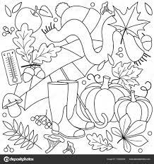 Herfst Kleurplaten Voor Kinderen Stockvector Huhabra 172826258