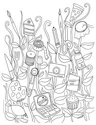 Small Picture Free Coloring Book Pages for Adults