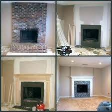 redo brick fireplace rock fireplace makeover brick fireplace remodel before and after stone fireplace makeover before