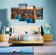 New York City Bedroom Aliexpresscom Buy 4 Piece Canvas Prints Decorative New York