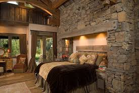 View In Gallery Bed Recessed Into The Stone Wall With Fuzzy Lighting  [Design: Hoyt / CTA Architects