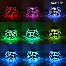 Solar Powered Mosaic Glass Ball Garden Lights Color Changing Table Solar Mosaic Garden Lights