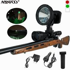 Rechargeable Weapon Light Rechargeable Cree Xml2 T6 10w White Green Red 1200lm 125mm Scope Mounted Spotlight Weapon Light 4 4ah Lithium Battery Spot Beam
