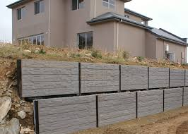 concrete sleepers retaining walls lonsdale