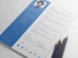 Free Modern And Simple Resume Cv Psd Template Modern Resume Template V 1