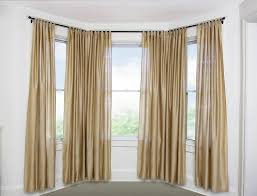 image of bay window curtain rods home depot