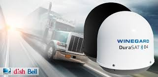 in motion satellite tv system for semi big trucks and rv mobile winegard in motion and stationary satellite dish antenna for truck