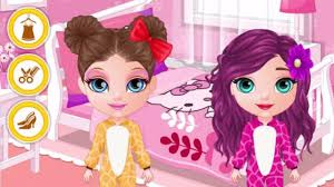 baby barbie pj party play the girl game online