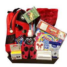 kids chemotherapy gift basket for a young chemo patient