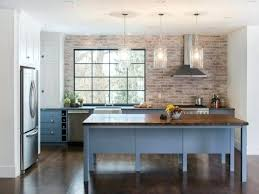 wall countertops brick kitchen rectangle brown varnished wooden kitchen cabinet red classic brick wall kitchen green