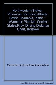 Alberta Distance Chart Northwestern States Provinces Including Alberta British
