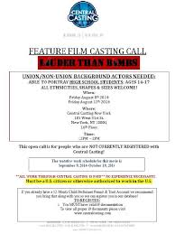 Extras casting call teen