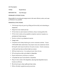 Cover Letter Template For Truck Driving Job Description Digpio With