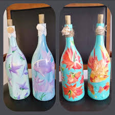 Alluring Painted Wine Bottles For Party