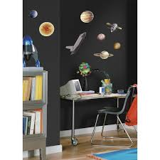 Peel And Stick Wall Decor Amazoncom Roommates Rmk1003scs Space Travel Peel And Stick Wall