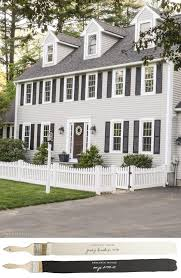 new england farmhouse neutral paint color scheme gray huskie painted exterior