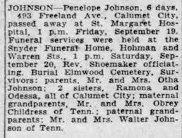 Obituary for Penelope JOHNSON (Aged 9) - Newspapers.com
