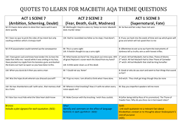 macbeth themes quoexplanations plus essay writing checklist  macbeth differentiated activity on quothat link to themes for aqa 1 9 exam