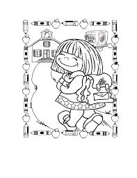 back to school coloring pages for preschool clipart panda free kindergarten