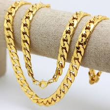 10mm 30 inch real 24k yellow gold color solid cuban curb chain mens necklace hip hop jewelry star style ad on aliexpress alibaba group