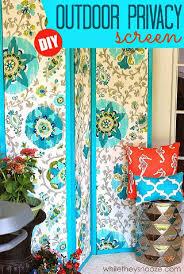 diy fabric porch screen